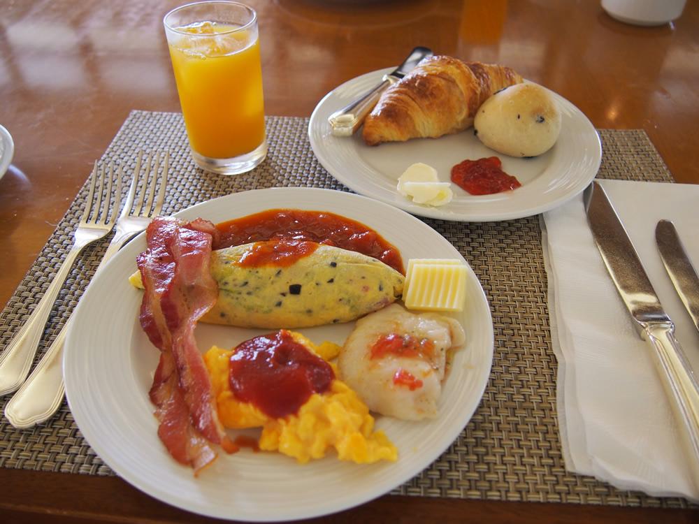 ブセナテラスの朝食(オムレツ)