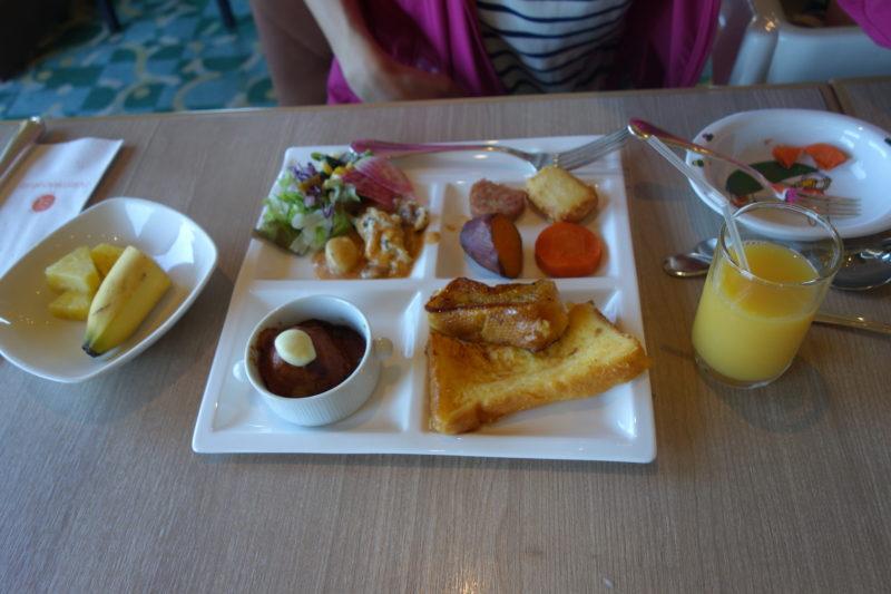 ホテル日航アリビラの朝食ビュッフェの内容、メニュー