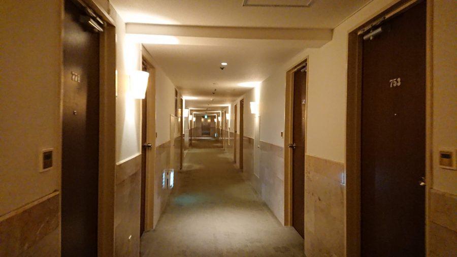 パシフィックホテル那覇の廊下