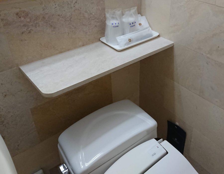 パシフィックホテル那覇のトイレとアメニティ
