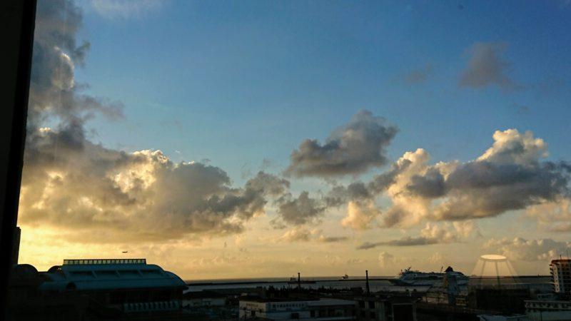 パシフィックホテル那覇の7階から見えた景色