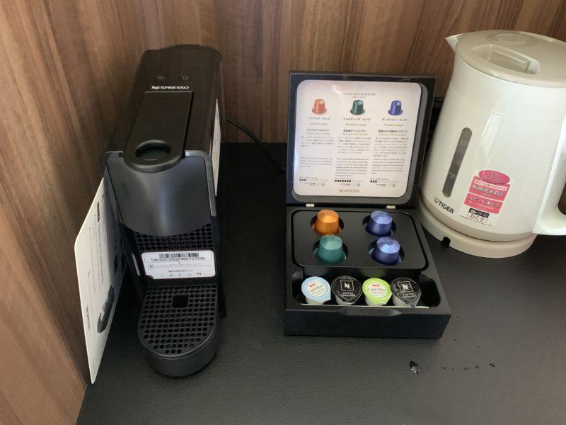 フサキリゾートのスーペリアツインに置いてあるコーヒーメーカー