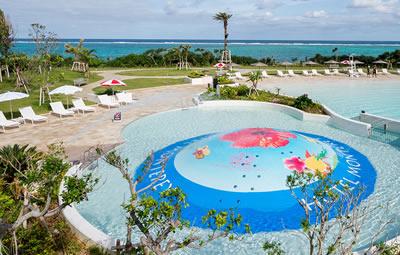 ホテルモントレ沖縄の子ども用プール(バブルヒル)