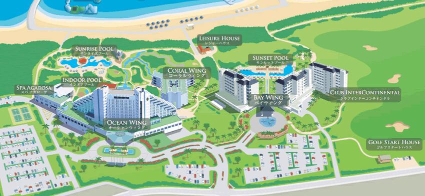 ANAいんたーコンチネンタル石垣リゾートの館内マップ